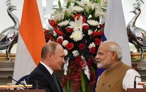Ruski predsjednik Vladimir Putin i indijski premijer Narendra Modi (Foto: AFP)
