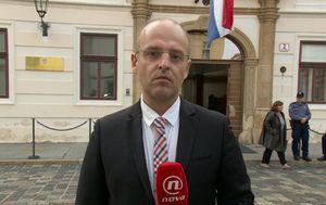 Mislav Bago s Markovog trga izvještava o sjednici užeg kabineta (Foto: Dnevnik.hr)
