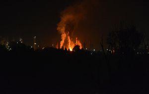 Eksplozija u rafineriji (Foto: Ivica Galovic/PIXSELL)