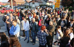 Prosvjed u Turnju (Foto: Kristina Stedul-Fabac/PIXSELL)