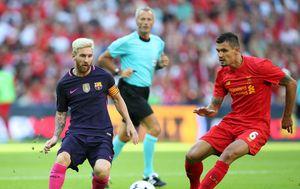 Uskoro suigrači? Messi i Lovren (Foto: David Klein/Press Association/PIXSELL)
