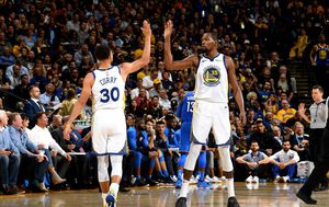 Steph Curry i Kevin Durant (Foto: AFP)