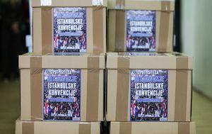 Potpisi inicijative Istina o istanbulskoj (Foto: Filip Kos/PIXSELL)