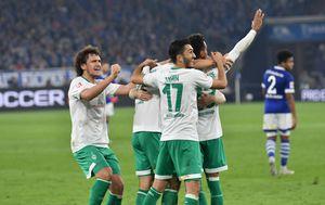 Slavlje igrača Werdera (Foto: nph/NordPhoto/PIXSELL)