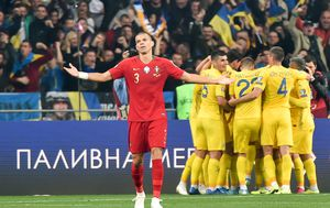 Pepe razočaran, Ukrajinci slave (Foto: AFP)