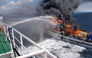 Požar na ribarici 1 (Foto: Zadarski.hr)