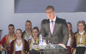 Govor Aleksandra Vučića na Kosovu (Foto: Dnevnik.hr)