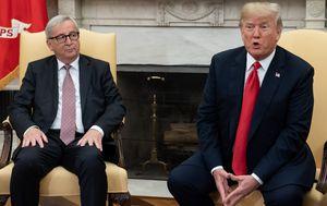 Jean-Claude Juncker i Donald Trump (Foto: AFP)