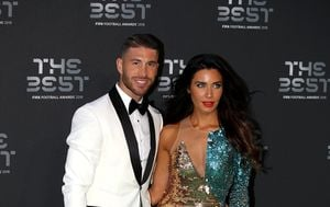 Sergio Ramos i Pilar Rubio (Foto: Tim Goode/Press Association/PIXSELL)