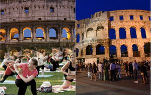 Lijevo rimski Colosseum, desno pulska Arena (Foto: Facebook, Dusko Marusic/PIXSELL)