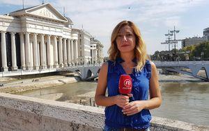 Katarina Alvir prati referendum u Makedonij (Foto: Dnevnik.hr)