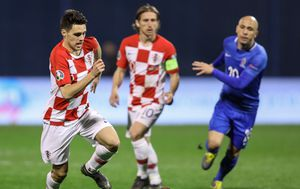 Detalj s prve utakmice Hrvatska i Azerbajdžana (Foto: Jurica Galoic/PIXSELL)