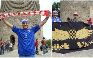 Hrvatski navijači u Azerbajdžanu (Foto: Luka Stanzl/PIXSELL / GOL.hr)