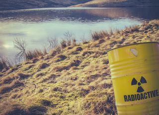 Ilustracija radioaktivnog jezera