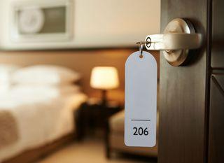 Ilustracija hotelske sobe