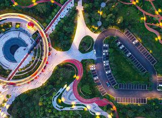 Osvjetljeni džepni park u Kini