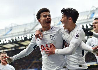 Dele Alli slavi gol protiv Chelseaja (Foto: AFP)