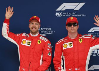 Sebastian Vettel i Kimi Raikkonen (Foto: AFP)