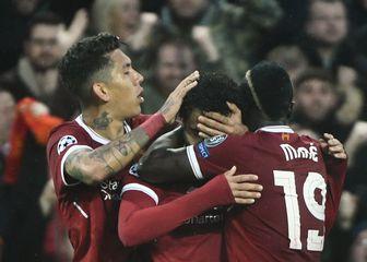 Slavlje Liverpoolovog trojca (Foto: AFP)
