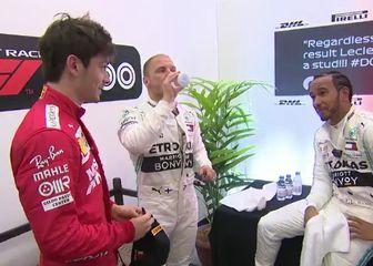 Leclerc, Bottas i Hamilton (Screenshot: YouTube)