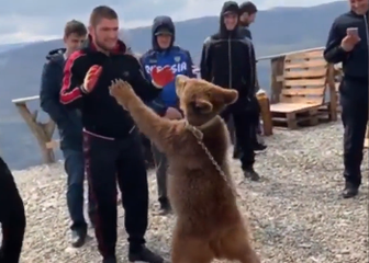 Habib Nurmagomedov ponovno sparira s medvjedom (Screenshot)