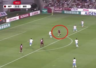 Prvijenac Inieste za Vissel Kobe (Screenshot: YouTube/GOL.hr)