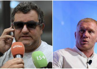 Mino Raiola i Paul Scholes (Foto: AFP/GOL.hr)