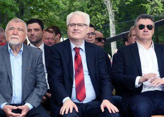 Stjepan Mesić, Ivo Josipović, Zoran Milanović (Foto: Borna Filic/PIXSELL)