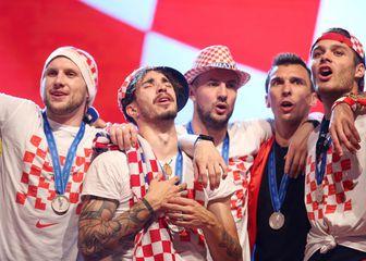 Ante Rebić, Šime Vrsaljko, Danijel Subašić, Mario Mandžukić i Duje Ćaleta-Car (Photo: Petar Glebov/PIXSELL)