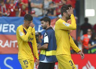 Utučeni igrači Barcelone (Foto: AFP)
