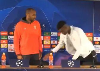 Thierry Henry i Benoit Badiashile (Foto: Screenshot)