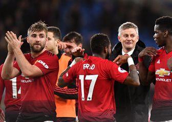 Ole Gunnar Solskjaer i igrači Manchester Uniteda (Foto: Simon Galloway/Press Association/PIXSELL)