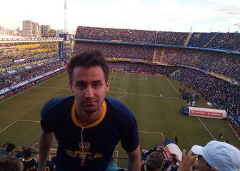 Vlado Boban na utakmici Boca Juniorsa