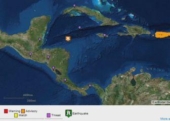 Honduras pogodio jak potres (Screenshot Reuters)