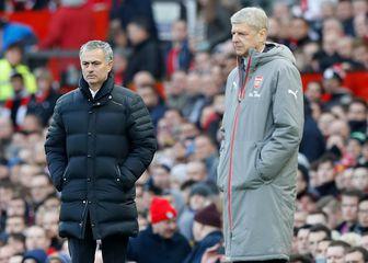 Arsene Wenger i Jose Mourinho (Foto: Martin Rickett/Press Association/PIXSELL)