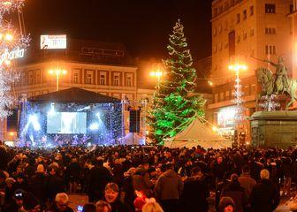 Doček 2019. na Trgu bana Jelačića (Foto: Josip Regović/Pixsell)