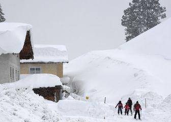 Snijeg u Austriji (Foto: AFP)