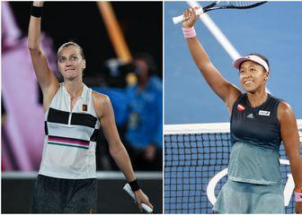 Kvitova vs Osaka (Foto: AFP)
