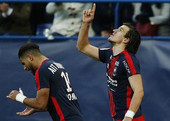 Ivan Santini slavi pogodak (Foto: AFP)
