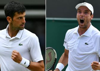 Novak Đoković i Roberto Bautista Agut (Foto: AFP)