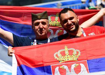 Srpski navijači (Foto: AFP)