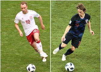 Christian Eriksen i Luka Modrić (Foto: AFP)