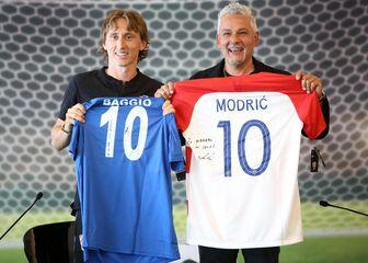 Luka Modrić i Roberto Baggio (Foto: Nel Pavletić/PIXSELL)