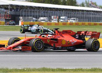 Vettel ispred Hamiltona na VN Kanade (Foto: Graham Hughes/Press Association/PIXSELL)