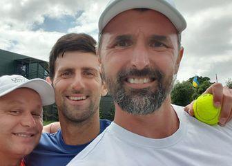 Marian Vajda, Novak Đoković i Goran Ivanišević (Foto: GOL.hr)