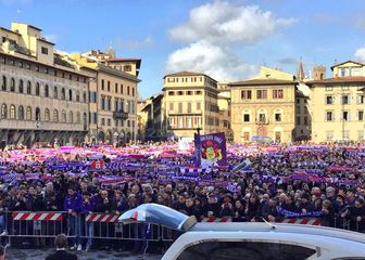 Navijači na oproštaju od Astorija (Screenshot Fiorentina)