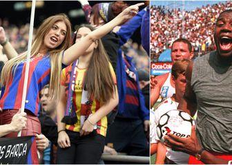 Navijačice Barcelone, Magic Johnson i Pele (Foto: AFP)