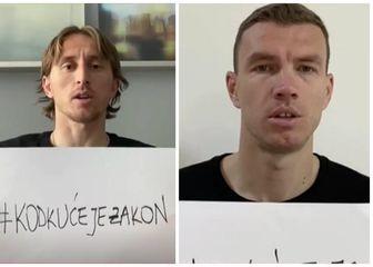 Luka Modrić i Edin Džeko
