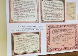 Dokumenti pronađeni u karlovačkoj crkvi - 1