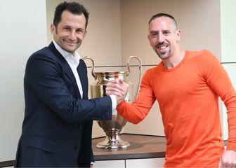Franck Ribery i Hasan Salihamidžić (Foto: FC Bayern/Twitter)
